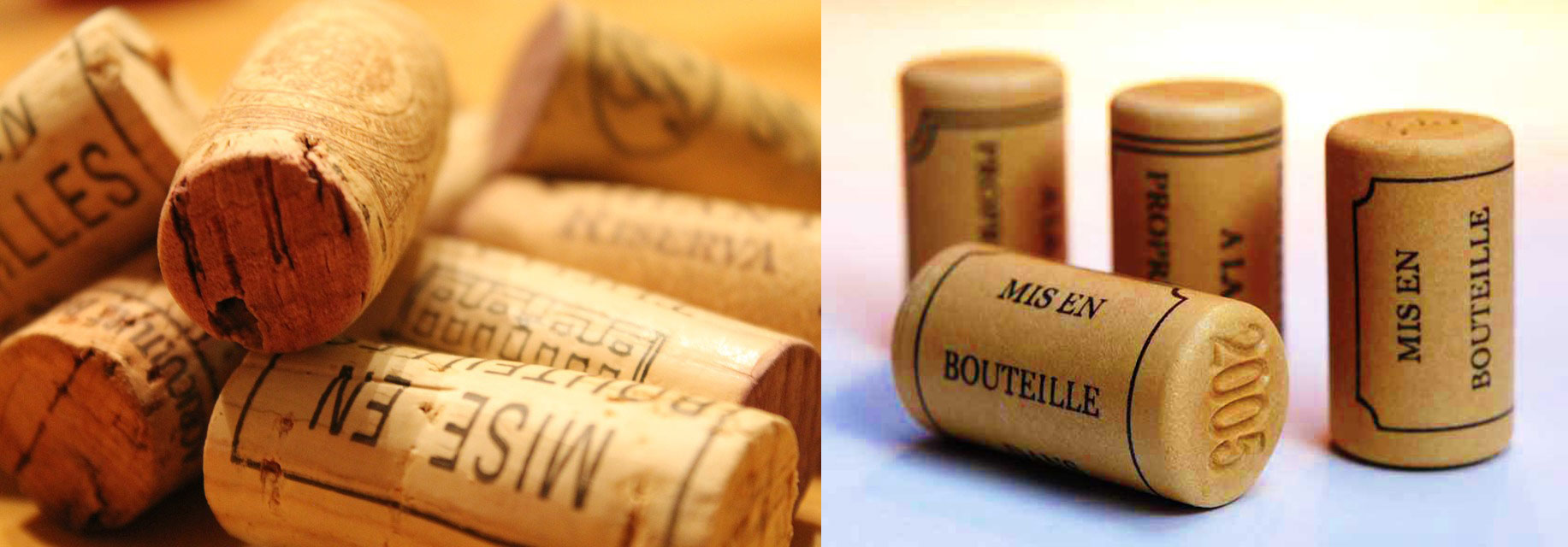 natural and synthetic corks