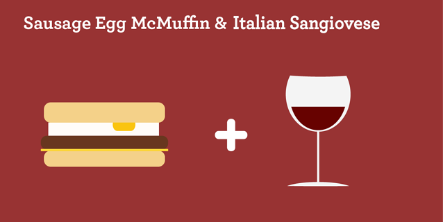 Sausage Egg McMuffin & Italian Sangiovese