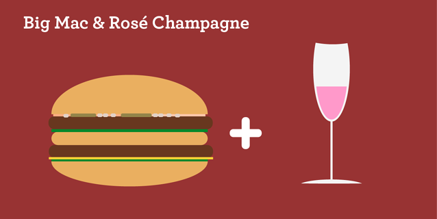 Big Mac & Rose Champagne