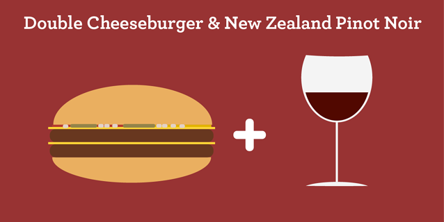 Double Cheeseburger & New Zealand Pinot Noir