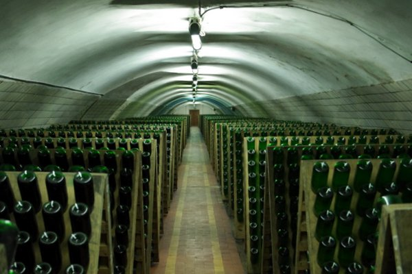 Sparkling wines are being made in the tunnels from Tsarist times (photo courtesy of Wine Anorak)