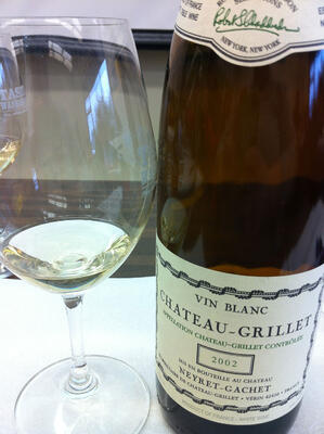 bottle of Chateau Grillet viognier